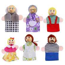 Leorx Career People Characters Family Finger Puppets Theater Show Soft Velvet Dolls Props Kids Toys for Children Gift Game(China)
