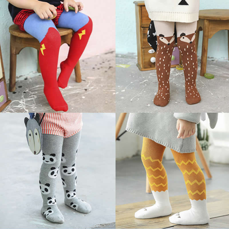 Children Baby Cotton Tights Spring / Autumn Girls Tight Winter Warm Cartoon Cute Pantyhose Tights For Baby Boys Kids 0-3Years