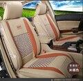 Para Chevrolet Cruze AVEO Sail malibu pu weave Ventilar Delantero y Trasero Completo fundas de asiento de coche de cuatro estaciones