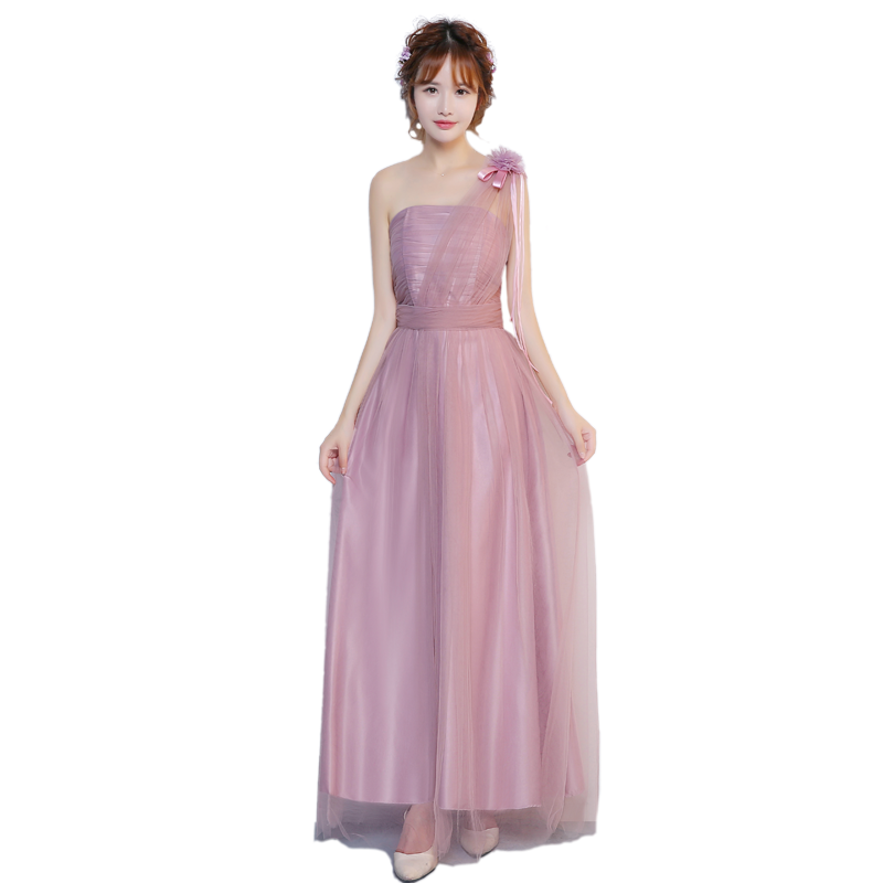 Sweet Memory Pink Long red Bridesmaid dresses sister graduation party dress  Promotional Price SW0050 28-in Bridesmaid Dresses from Weddings   Events on  ... d6256d029afb