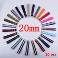 HOT 10PCS/Lot 20 mm Watchband Wholesale Watches Men Nylon Nato Strap 20mm Watch Band Waterproof Watch Strap For Watch