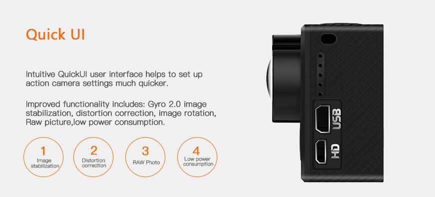 En Stock Hawkeye luciole 8SE caméra d'action avec écran tactile 4 K 30fps 170 degrés Super-vue Bluetooth FPV Sport Action Cam - 3