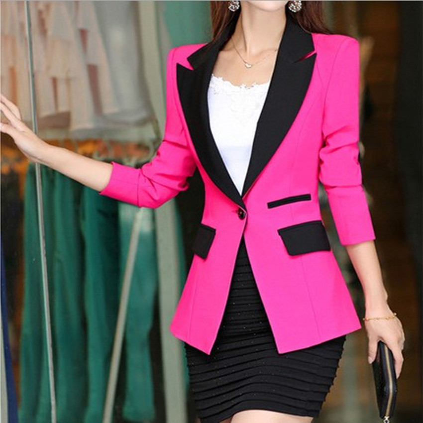 Women Blazers And Jackets Newstyle Temperament Commuter Small Suit Women's Jacket Stitching Slim Long-sleeved Office Ladies Suit