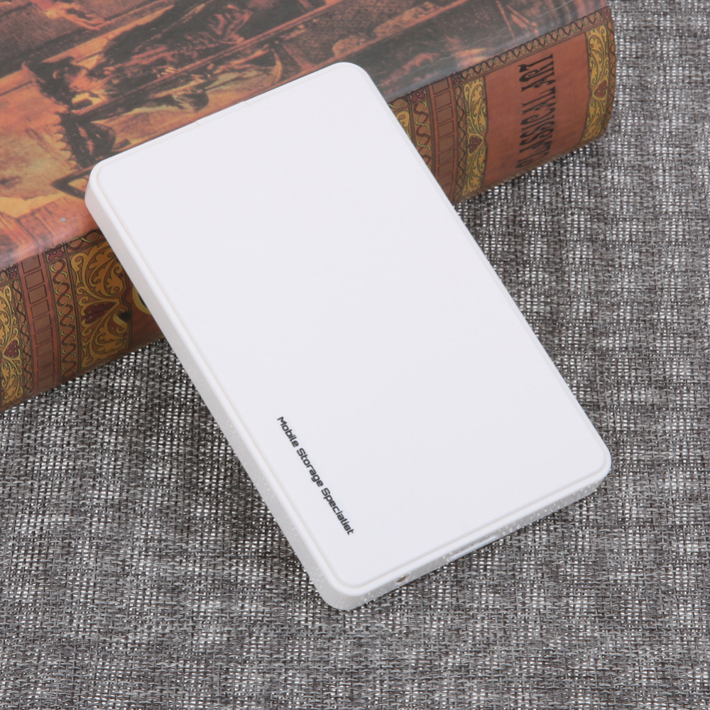 2.5 Inch HDD Box USB 3.0 SATA Hard Drive Disk HDD Case Hard Drive Lightweight External Enclosure Up to 2TB with USB Cable White high speed usb 2 0 hard disk drive enclosure case for 2 5 sata hdd white max 2tb