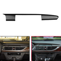 Car Center Control Navigation Cover Trim Carbon Fiber Style Sticker Fit For Audi A6 C7 2012-2016 Car Styling Auto Accessories
