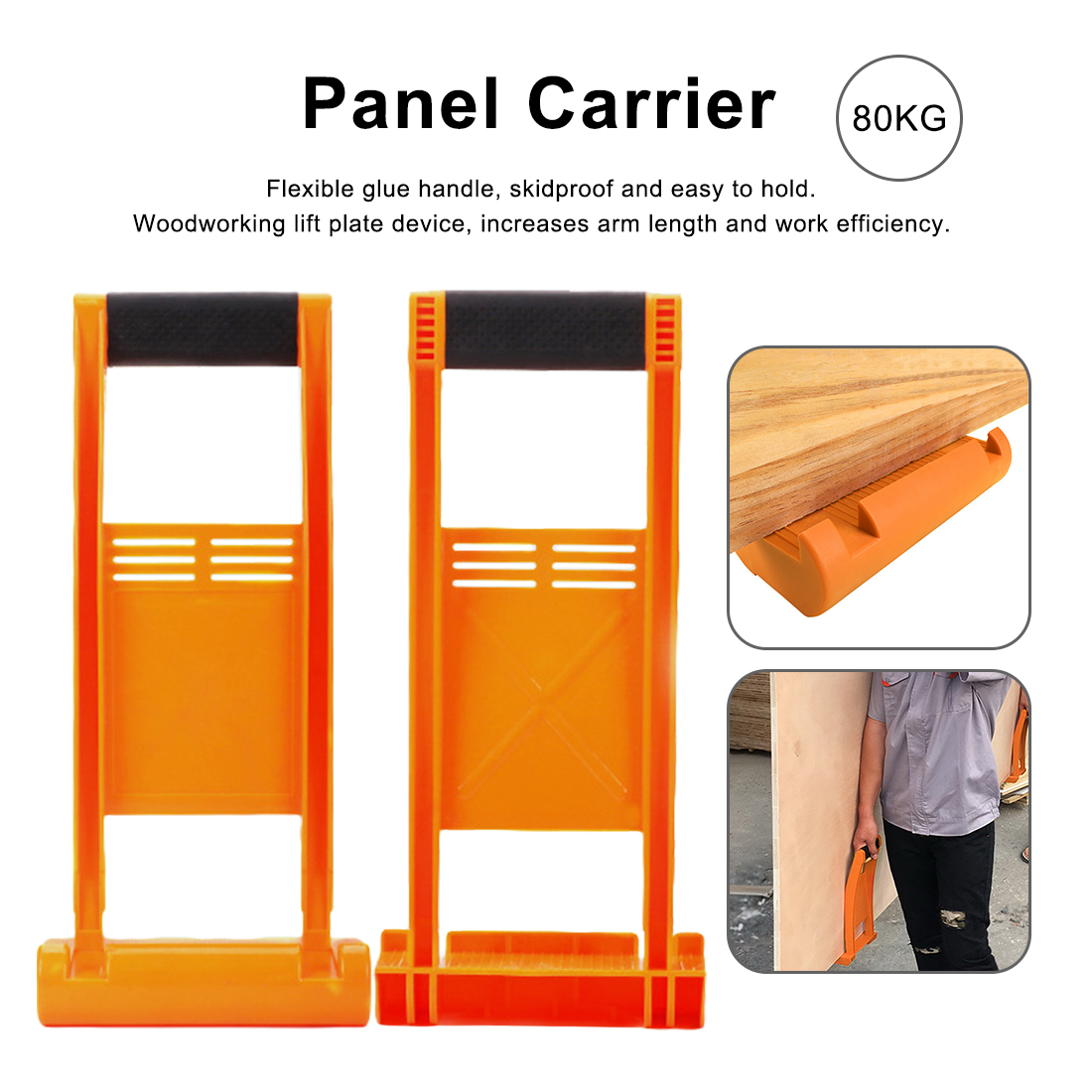 1pcs 80kg Load Tool Panel Carrier Gripper Handle Carry Drywall Plywood Sheet ABS For Carrying Glass Plate Gypsum Board
