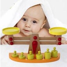 2017 Montessori Educational Wood toys Kitchen Montessori Toys Materials Montessori Wooden Scale Balance Toys For Children