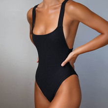 New One Piece Swimwear Women Swimsuit Beachwear Swimming Padded Bandage Bodysuit Monokini Maillot De Bain Femme Bathing Suit