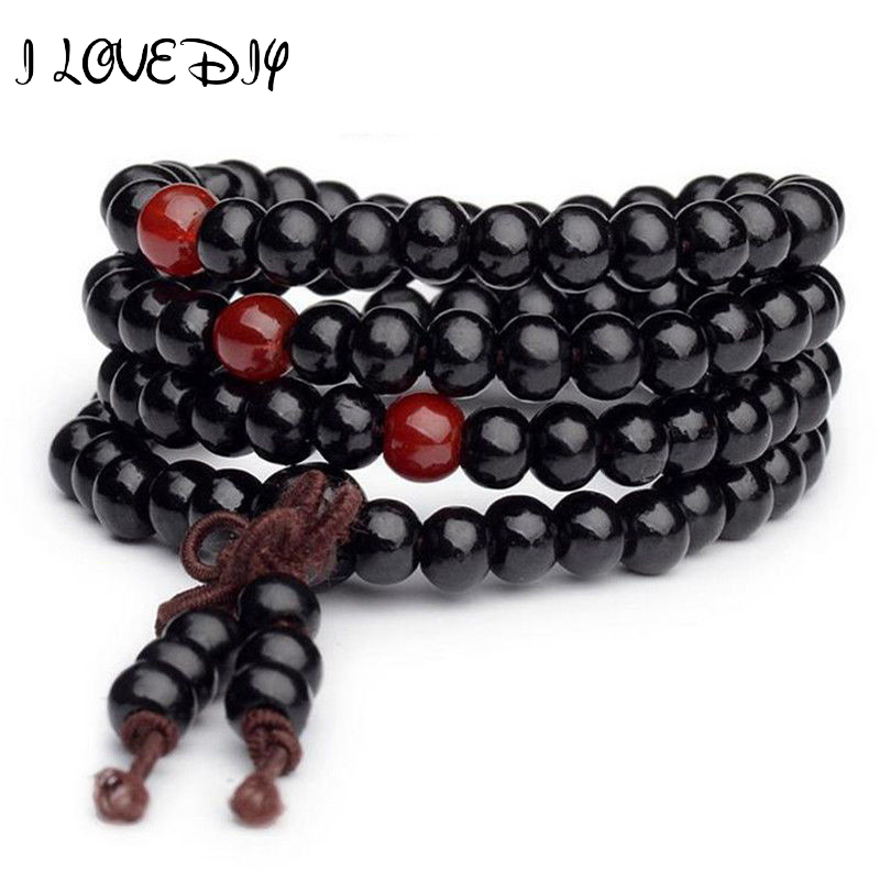 6mm 108 Sandalwood Buddhist Buddha Meditation Prayer Bead Mala Bracelet Necklace