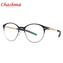 2018 New Eyeglasses frame Women Round glasses ultra light slim mens myopia prescription