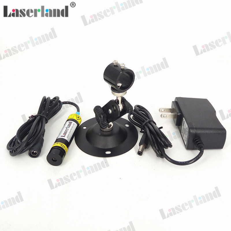 16*68mm 808nm 100mW 200mW-250mW Infrared Dot Line Cross Focusable Laser Diode Module W Adapter + Mount Glass Lens
