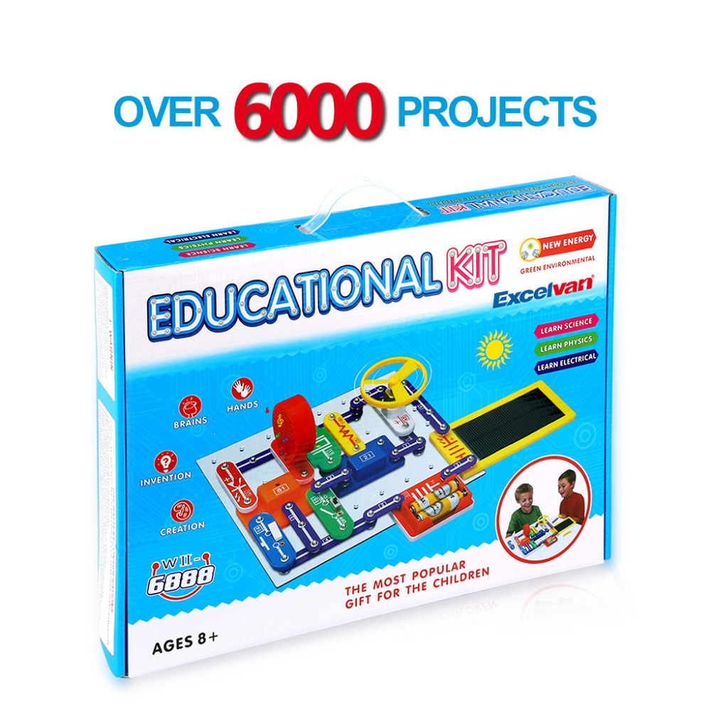 Excelvan Technic Electronics Blocks Kit Kids Toys Snap Circuits Circuit For Discovery Children Birthday Gifs In From