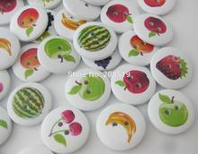 WBNNOL 120 pezzi bottoni di frutta in legno stampato decorazione fai da te adatta per bambini indumento pulsante forniture per cucire