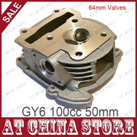 GY6 100cc Chinese Scooter Engine 50mm Big Bore Cylinder Head Assy 64mm Valve 69mm Valve For