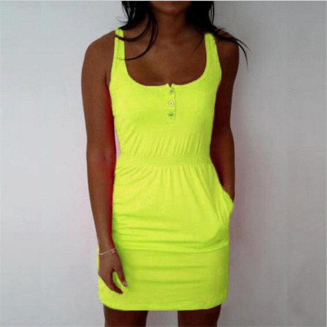 Vestidos Femel Candy Color Slim Mini Bodycon 2017 Summer Style Women Tropical Boho Clothing Brief 5XL Plus Size Casual Dresses