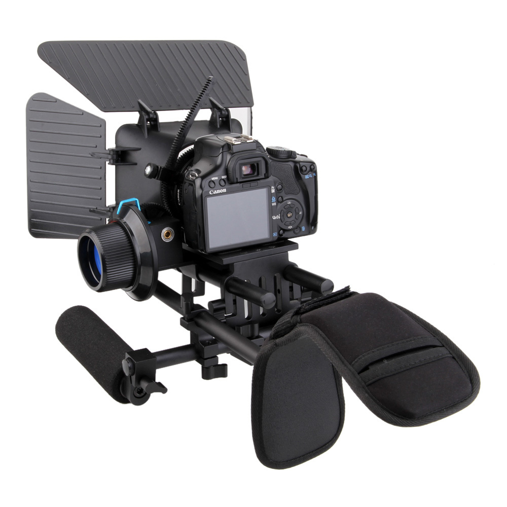 DHL(Free) DSL-01  DSLR Camera Shoulder Rig Movie Kit shoulder Support mount rig with Follow Focus dhl free pro dslr rig rl 04 hand and shoulder mount rig for all camera and dslrcamcorders photography accessories p25