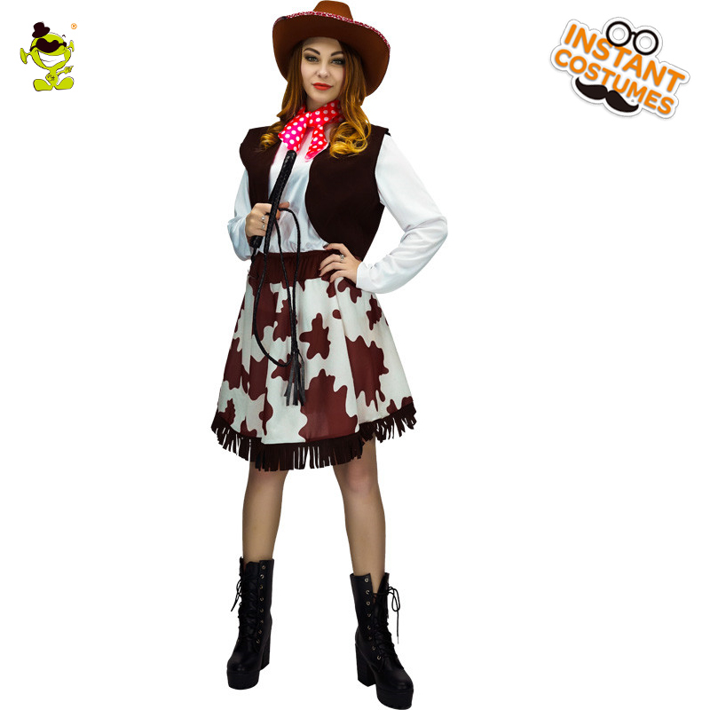 Adult Cowgirl Costume Carnival Role Play Outfits For Women -6985