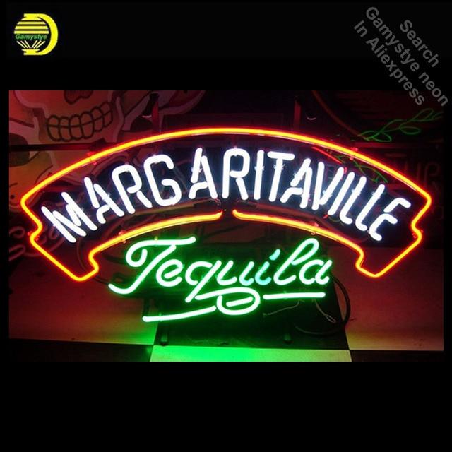 Neon Sign for Margaritaville Tequila Neon Bulb sign Iconic handcraft neon signboard coffee shop neon wall lights anuncio luminos
