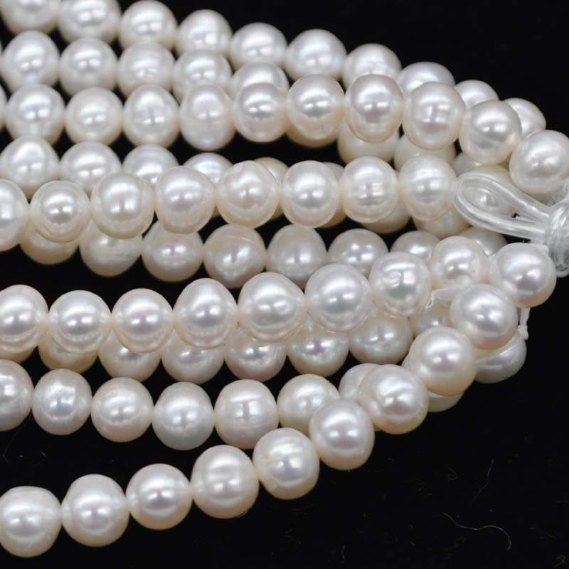 wholesale 10strands 7 8mm potato freshwater pearl Q400051