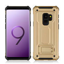 Anti Scratch Skid Shock Absorption TPU+PC Car Holder Phone Case For Samsung Galaxy S9 5.8 Proof