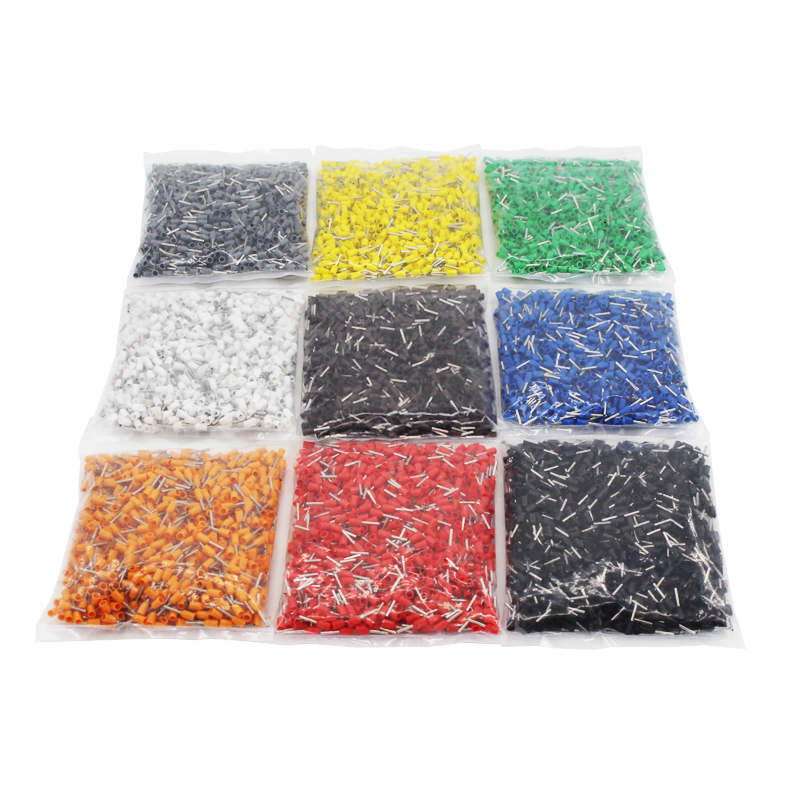 1000pcs Pack E6010 Insulated Cord End Terminal Crimp Terminal Wire Connector Crimp Ferrules Crimping Terminals Tubular AWG 10 in Terminals from Home Improvement