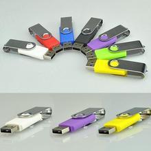 500 teile/los drehen usb-stick 4 gb 8 gb 16 gb 32 gb 64 gb pen drive usb-flash-speicher usb 2.0 stick angepasst logo