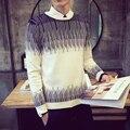 M-5XL Осень зима пуловеры вязаный свитер мужчины марка 2016 стильный свитера мужские свитера тянуть homme марка