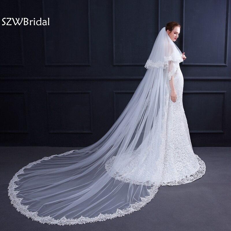 New Arrival White Ivory Bridal veil 2019 Wedding veil velo de novia wedding veils velo sposa sluier wedding accessories