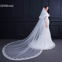 New Arrival White Ivory Bridal veil 2019 Wedding veil velo de novia wedding veils velo sposa sluier wedding accessories