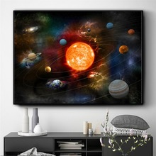 Our Solar System 3D Artwork Posters and Prints Wall art Decorative Picture Canvas Painting For Living Room Home Decor Unframed predator movie figure artwork posters and prints wall art decorative picture canvas painting for living room home decor unframed