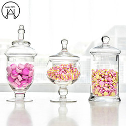Continental wysokie szkło pokryte przechowywanie cukierków zbiornik słoik na cukierki szklane słoiki cukiernica szklane butelki słój na przetwory dekoracje ślubne