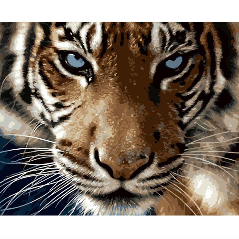 Leopardo tigre Leão Lobo Colorindo por Números Pintar por Números Pinturas Pinturas Numeradas Numeros oleo Lienzo Lona
