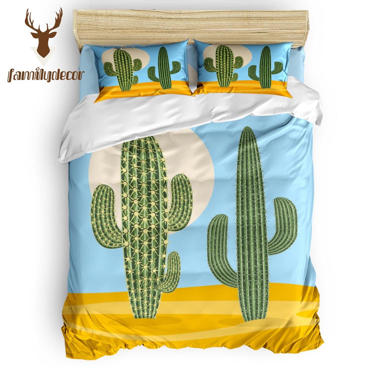 Семейный декор, пустыня, природа растение, кактус, постельные принадлежности, набор пододеяльников, набор крышек кожаные накладки