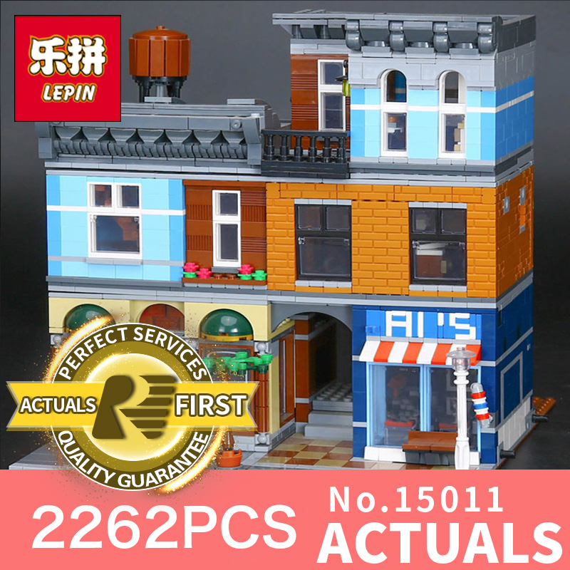 2262Pcs Lepin 15011 Street view Series The Detective's Office Set Avengers Set Assemble Building Blocks Bricks Toys model 10197 lepin 15011 parsian creator expert city street resturant minifigure avengers set assemble building blocks toys compatible legeod