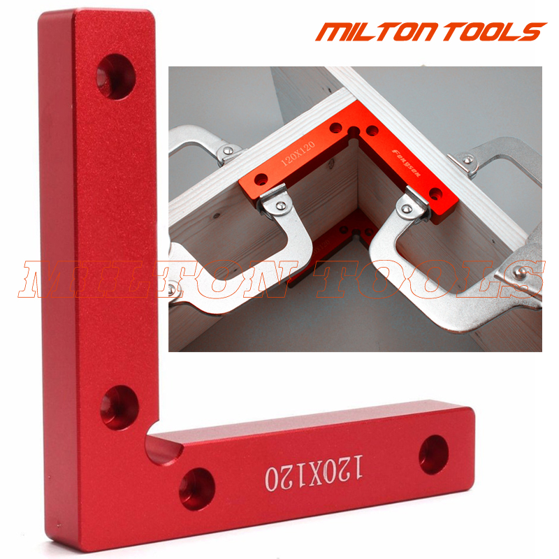 90 Degree Positioning Squares 4.7 x 4.7 Right Angle Clamps Woodworking Carpenter Tool Lightweight Corner Clamp Aluminium Alloy Pack of 2