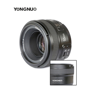 Image 4 - YONGNUO YN 50mm YN50mm F1.8 Lens Large Aperture AF/MF Auto Focus Fixed Lens for Canon EOS or Nikon DSLR Camera