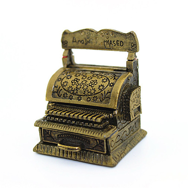 1:12 Artificial Classical Cash Register for Doll House Mini Emulational Toy House Dollhouse Model Accessory Desktop Decoration