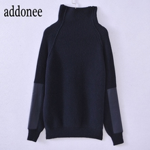 New Style High Quality Autumn Winter Women Cashmere Wool Sweater Pullovers  Warm Solid Turtleneck Fashion Victoria df4ab65381cb