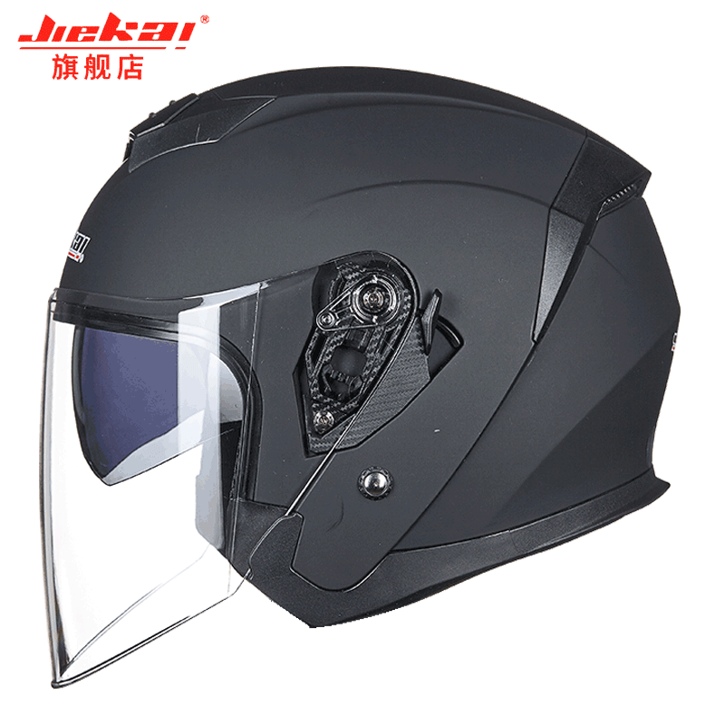 JIEKAI Half Face ABS Motorbike Helmet Electric Safety Double Lens Helmet Jet Helmet Condor Camo Metropolis