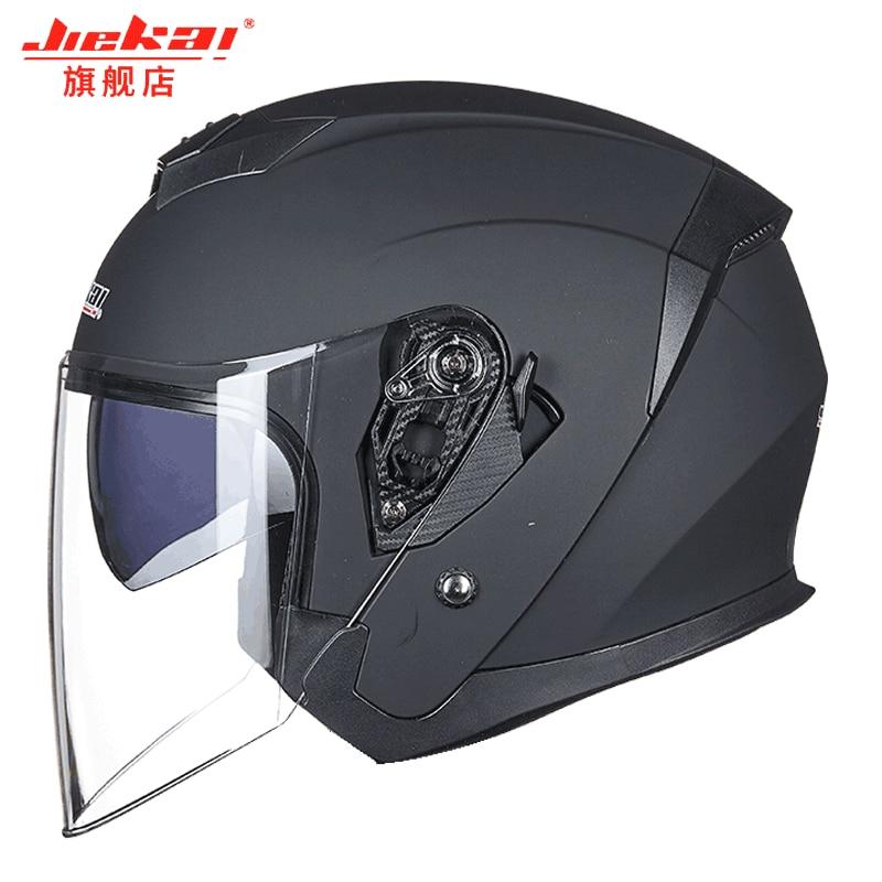 JIEKAI ハーフフェイス ABS moto rbike ヘルメット電気安全ダブルレンズヘルメットジェットヘルメットコンドル迷彩メトロポリス Casque moto  グループ上の 自動車 &バイク からの ヘルメット の中 1
