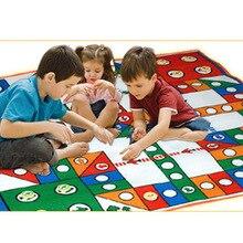 Детские напольные игры Ludo Развивающие детские игрушки Интересные настольные игрушки набор переносных летающих шахматных досок семейные вечерние игры