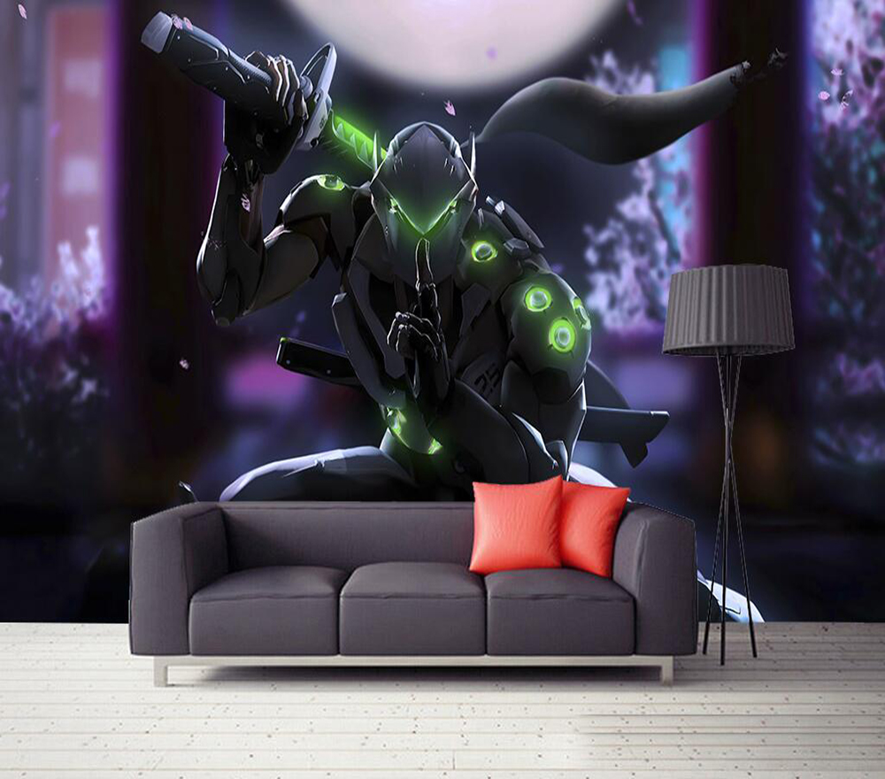 Us 835 41 Offdecorative Wallpaper Overwatch Genji Background Wall Painting In Fabric Textile Wallcoverings From Home Improvement On Aliexpress
