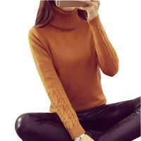 Women Sweaters Women Winter Turtleneck Twisted Slim Pullover Thickening Sweater Autumn