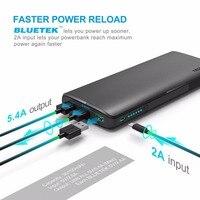 TeckNet 18650 Battery 30150mAHh 3 Port USB Portable Charger External Battery Power Bank Usb Quick Charger