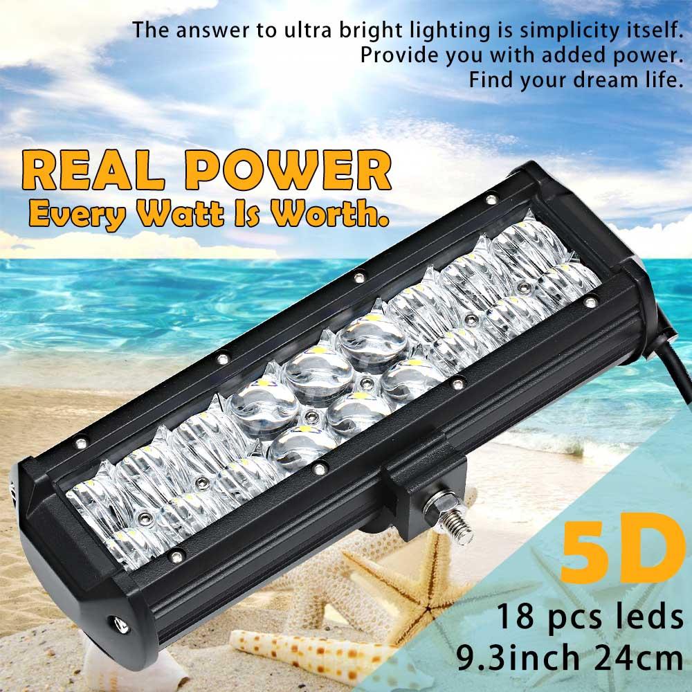 12 zoll 3D 5D 72 Watt Offroad Led lichtleiste Tri zeile Zweireihig ...