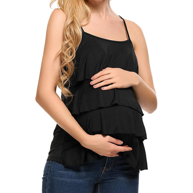 dd68e2089257c Women's T Shirt Maternity Nursing Tank Tops Sleeveless Breastfeeding  Clothes T Shirt summer Pregnant tees Wear borstvoeding