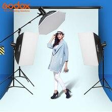 Godox 2x SK400 400Ws 1x DP600II 600 Вт фото студия флэш Strobe Light 110 В/220 В с 50 вт моделирование лампы софтбокс, свет Стенд kit