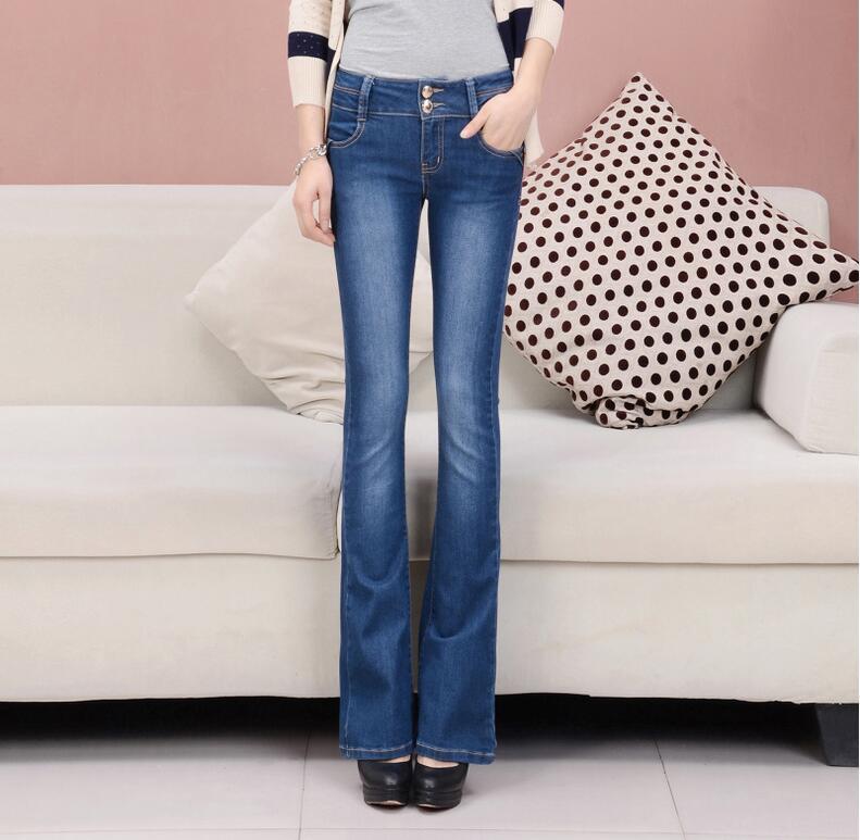 same Pierna Slim Photo Skinny Alta Tamaño Pantalones Corta Nueva Hip Plus Photo Otoño 2019 Vaqueros Bota Cintura Denim Llamarada Moda Mujer Same w1RnOnxqv7