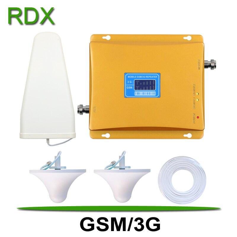 Téléphone portable double bande GSM 3G répéteur de Signal de haute qualité téléphone Mobile 2G GSM900 3G 2100 WCDMA UMTS amplificateur de Signal amplificateur vente