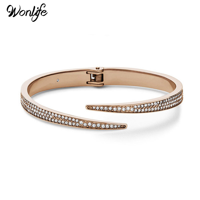 Tip Top Jewellery: Wonlife Jewelry Top Stainless Steel Gold Colour Spring